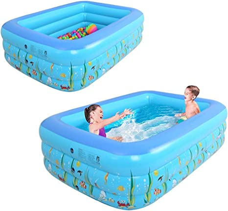 Blueyouth Inflatable Pool 1 3m Three Ring Baby Inflatable Printing Swimming Pool Pvc Playing Bathing Pool For Family Children 130x90x55cm Amazon Ca Home Kitchen