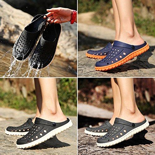 Men Color Gris Waterproof Tamaño Slippers Slippers Sandals 8 Slip 5 Azul UK7 Summer Sandals Half EU41 Zapatillas Hole MAZHONG CN42 Sandals Shoes qwvOvA1E