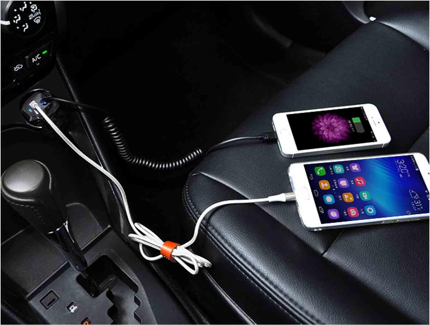 nero Cavo USB per Samsung Galaxy S7 S6 edge A5 S4,Note 4 Edge,HuaWei,Nexus HTC one m8, Caricatore da Auto Caricabatteria con Micro LG g4,g8