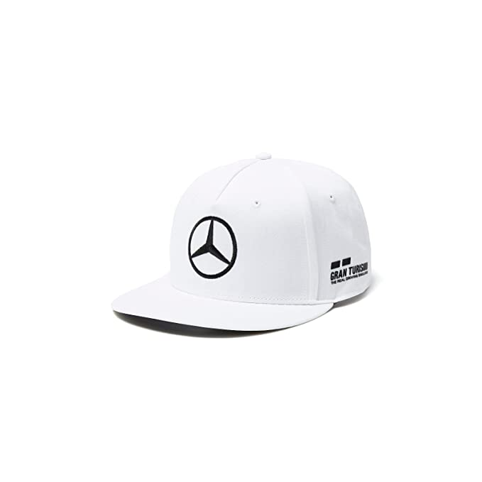 955d92600ff Image Unavailable. Image not available for. Color  Mercedes AMG Petronas F1  2018 Lewis Hamilton Flatbrim Hat White