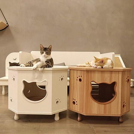 Fanuosu Camas para Gatos Muebles del Gato Anís de Madera Mesa de ...