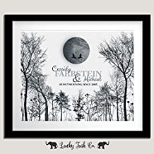 Personalized 10 Year Anniversary Gift of Tin Aluminum Honeymoon Winter Trees For Couple Ten Year Wedding Anniversary 1st First 2nd 10th Gift From Husband or Wife 8x10 Unframed Custom Art Print