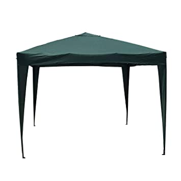 Kormax - Pabellón Plegable - Color Verde - Estructura Metal/Aluminio, 3x3 Metros: Amazon.es: Jardín