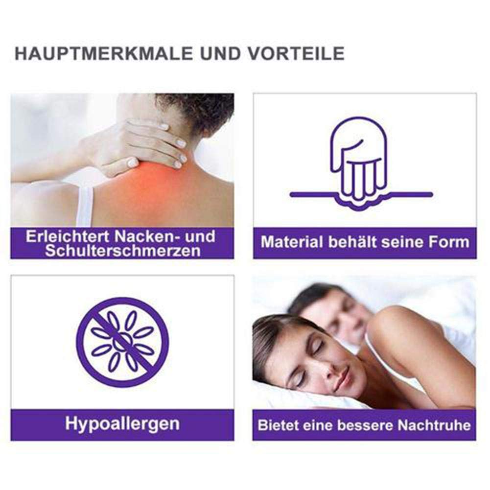 HoneybeeLY Cuscino Guanciale ergonomico per Posizione Sonno Notturna Laterale a Forma di U Migliora Sonno Schiena Cervicale Bianco con Fodera Zip