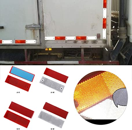 2 Large Rectangular Rear Reflector Trailer Fence//Gate Post by Baodanjiayou