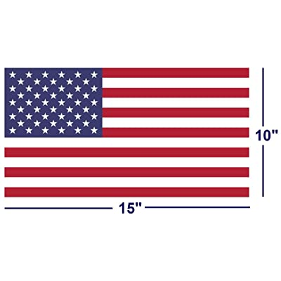 """SecurePro Products Extra Large 10"""" x 15"""" Rectangular United States American Flag Decal Sticker;""""Super Premium Quality"""" Heavy-Duty 3M USA Vinyl, Die-Cut, Screen Printed, Adhesive on Back: Arts, Crafts & Sewing"""