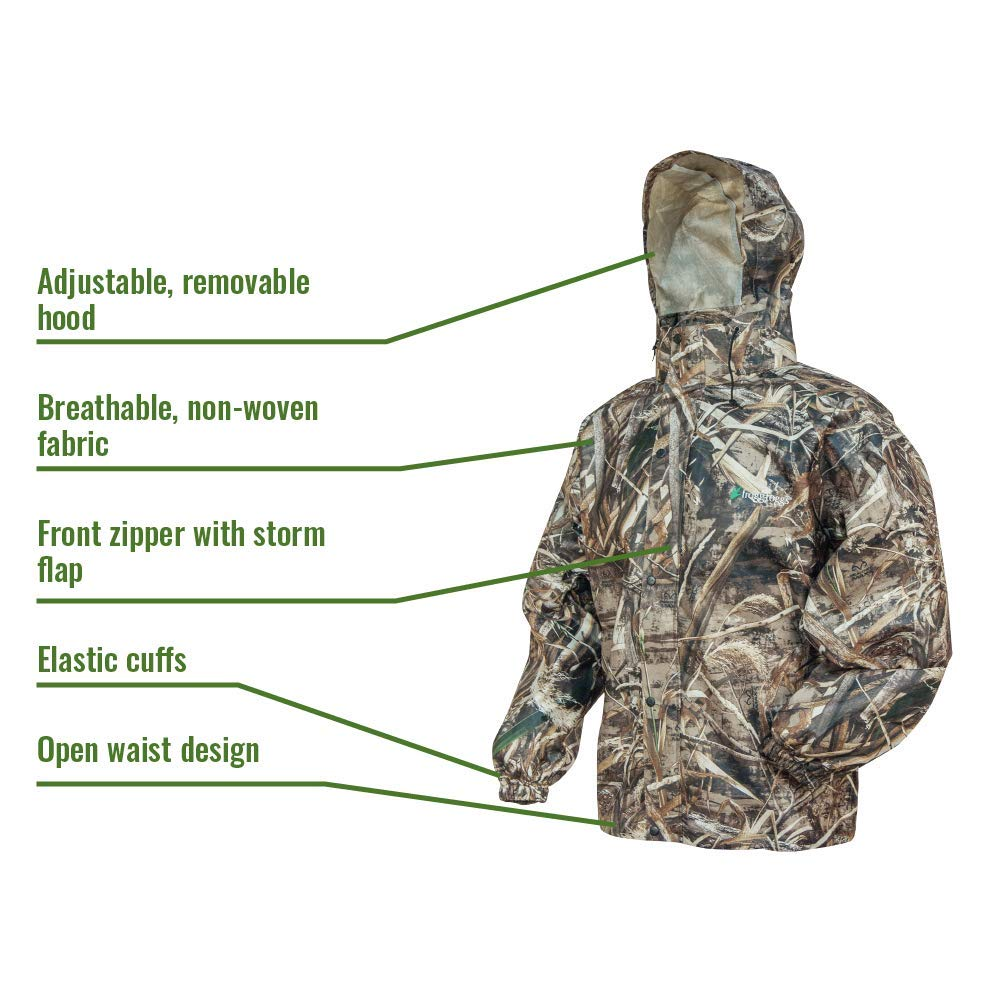 Frogg Toggs Frogg Toggs All Sport Rain Suit, Realtree Max-5, Size Small All Sport Rain Suit, Realtree Max-5, Small by Frogg Toggs (Image #2)
