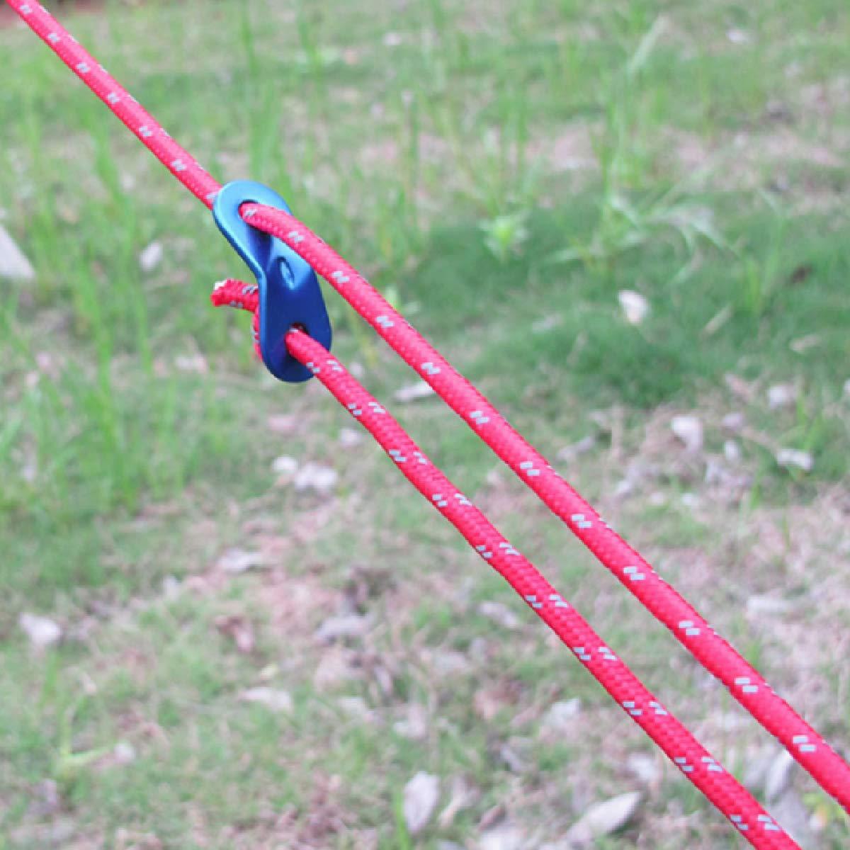 Paracordseil mit Seilspanner f/ür Zelt Zeltplane Camping Spannschnur TRIWONDER Reflektierend Abspannseile