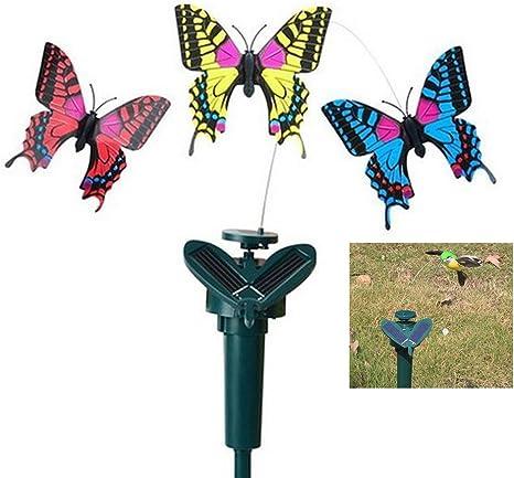 Colorido estímulo de jardín mariposas en varillas vibración energía solar baile volando mariposas duraderas ABS luces de hada para el hogar jardín vacaciones, valla yarda boda, decoración de fiesta: Amazon.es: Deportes y
