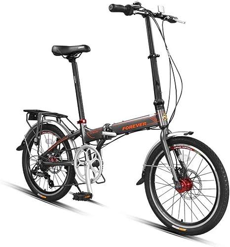 WEHOLY Bicicleta Bicicleta Plegable Hombres y Mujeres Adultos Ultraligero portátil pequeño Desplazamiento de aleación de Aluminio de 20 Pulgadas, Negro: Amazon.es: Deportes y aire libre