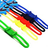 superdream MTB Cycling Bike Bicycle Silicone Band Flash Light Flashlight Phone Strap Tie Ribbon Mount Holder (Pack of 6)