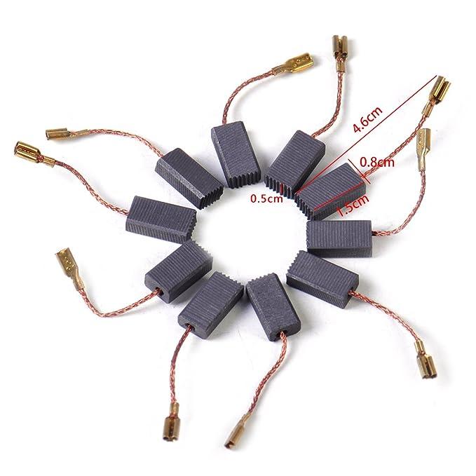 escobillas de carb/ón GOMES GWS 18-230 compatible Bosch GWS 18-180