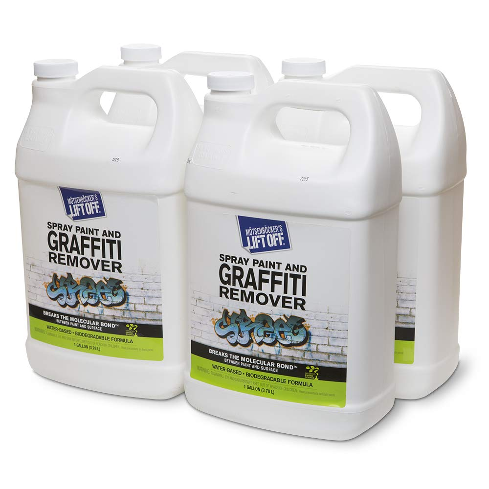 Motsenbocker's Lift Off 41201-4PK Spray Paint and Graffiti Remover 1-Gallon Bottle-Case of 4, 512. Fluid_Ounces, 4 Pack by Motsenbocker's Lift Off