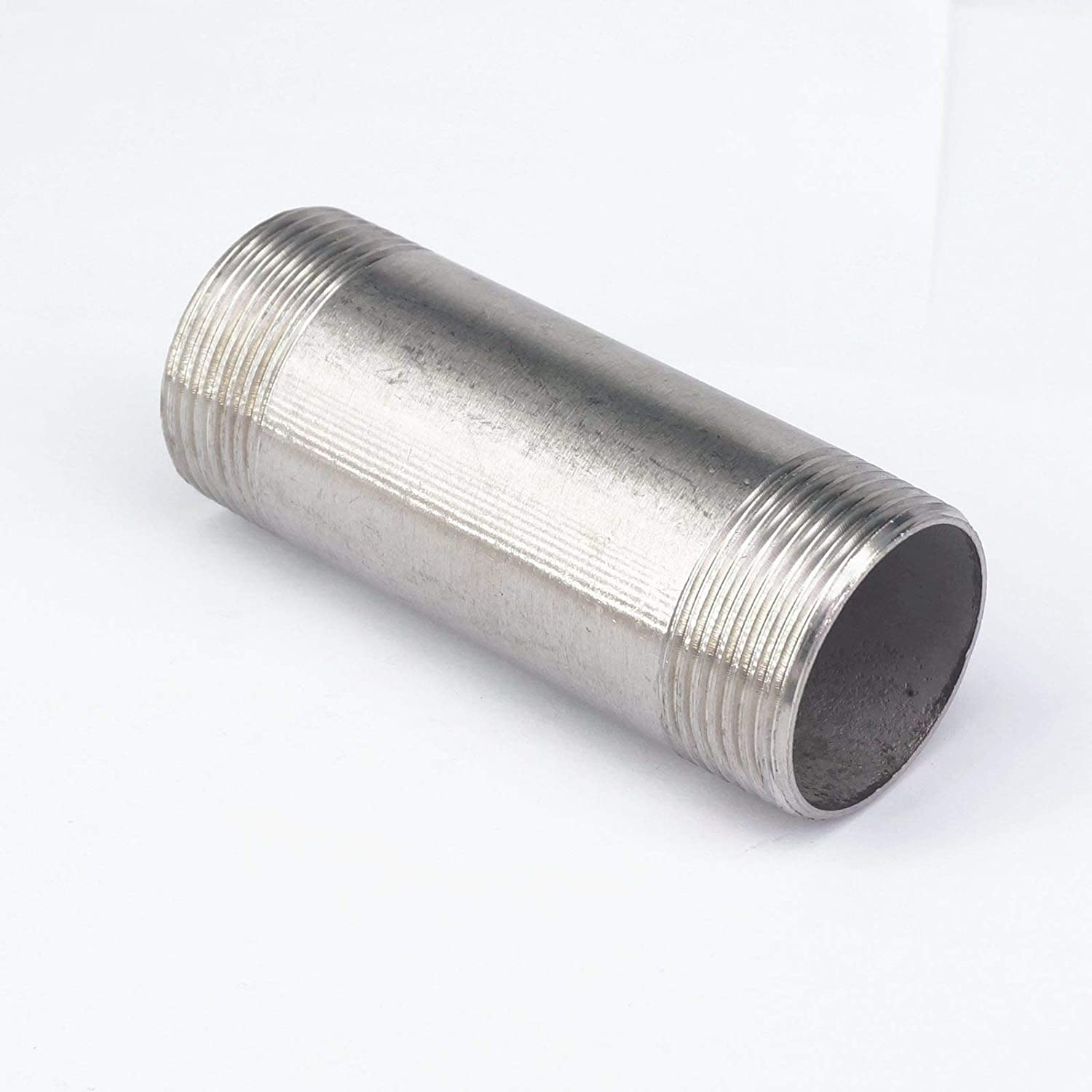 Sorekarain 2 BSPT Male Thread Length 100mm Barrel Nipple 304 Stainless Pipe Fitting Connector Coupler Water Oil air