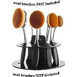 DSCbeauty 10 Holes Oval Makeup Brush Set Holder Toothbrush Makeup Brush Kit Drying Rack Oval Brushes Organizer