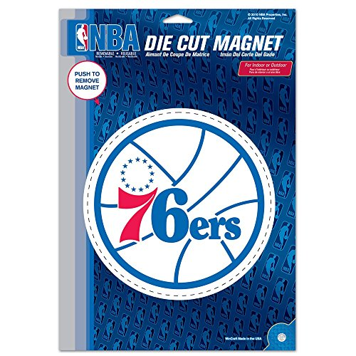 (Philadelphia 76ers Official NBA 6 inch x 9 inch Car Magnet by Wincraft)