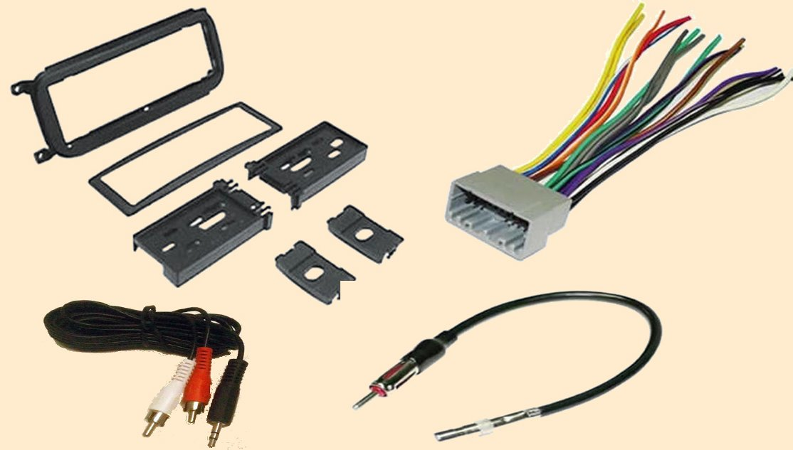 6125QkHdGyL._SL1114_ amazon com radio stereo install dash kit wire harness antenna 2002 jeep wrangler radio wiring diagram at n-0.co