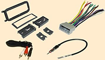 6125QkHdGyL._SX355_ amazon com radio stereo install dash kit wire harness antenna 2002 dakota wire harness at honlapkeszites.co