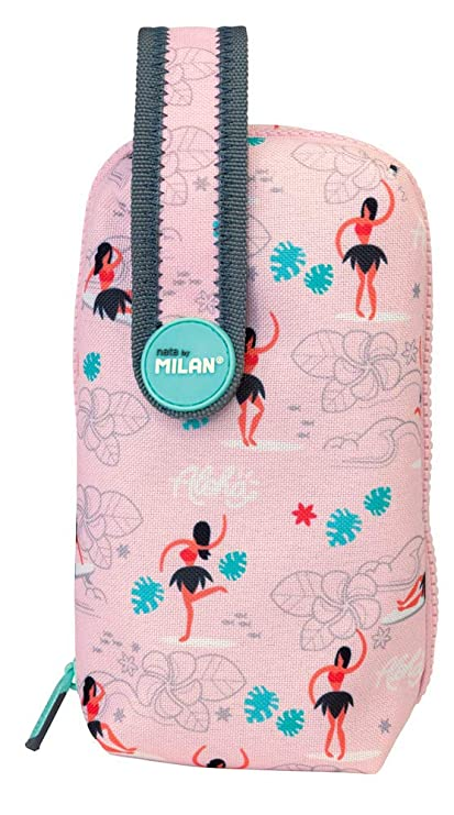 Amazon.com : Case + Pencil Case Full Aloha Pink 20 x 10 cm ...