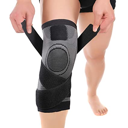 7d0b08793b Mumian Knee Compression Sleeve with Adjustable Strapping for Pain Relief, Meniscus  Tear, Arthritis,