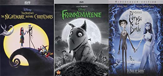 Amazon Com The Ultimate Animated Tim Burton Family Fun Pack The Nightmare Before Christmas The Corpse S Bride Frankenweenie 3 Movie Bundle Disney Johnny Depp Helena Bonham Carter Martin Short Tim Burton