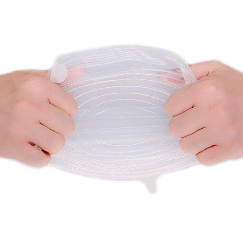 Riutilizzabile 6pz/set universale silicone stretch coperchi Kitchen Fruit Cup Bowl food cover vuoto sigillato Wrap coperchi Fresh pellicola trasparente