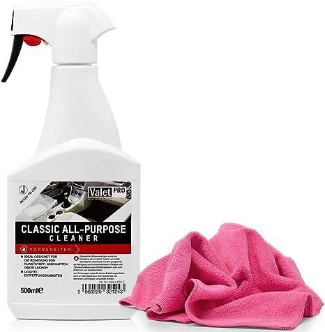 Detailmate Valetpro Allzweckreinigerkonzentrat Classic All Purpose Cleaner 0 5 Sprühflasche Hochwertiges Mikrofasertuch Für Die Innenreinigung Auto
