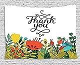 Afagahah Thank You Beauty Garden Everyday Custom Hippie Bohemian Tapestry Wall Hanging Bedding Wall Art Yoga Mat Beach Throw