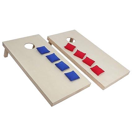 1d9665b019906 ZENY Portable Solid Wood Cornhole Bean Bag Toss Game Set Regulation Size  4ft x 2ft Cornhole