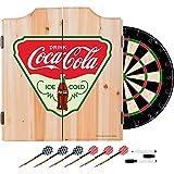 Trademark Gameroom COKE7010-IC Coca Cola Dart Cabinet Set with Darts & Board - Ice Cold