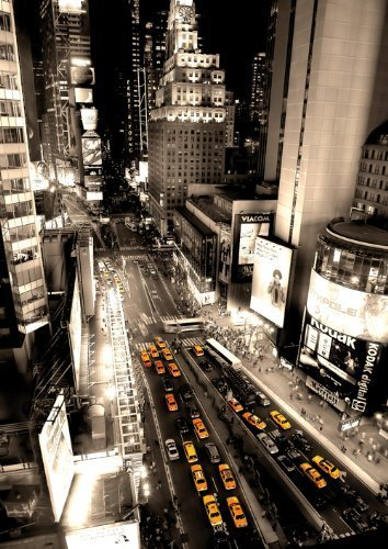New York Taxis Times Square Aerial View Poster New Laminated Available