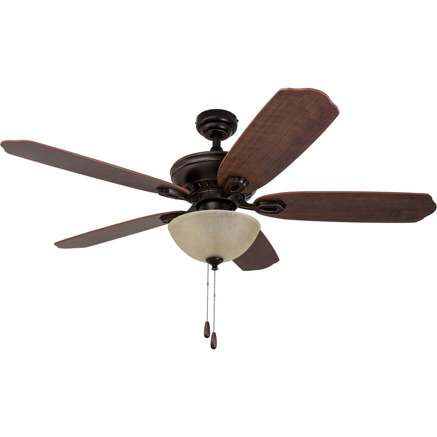 Prominence Home 50334-01 Spring Hollow Ceiling Fan, 52 inches, Reversible Fan Blades, Oil-Rubbed Bronze