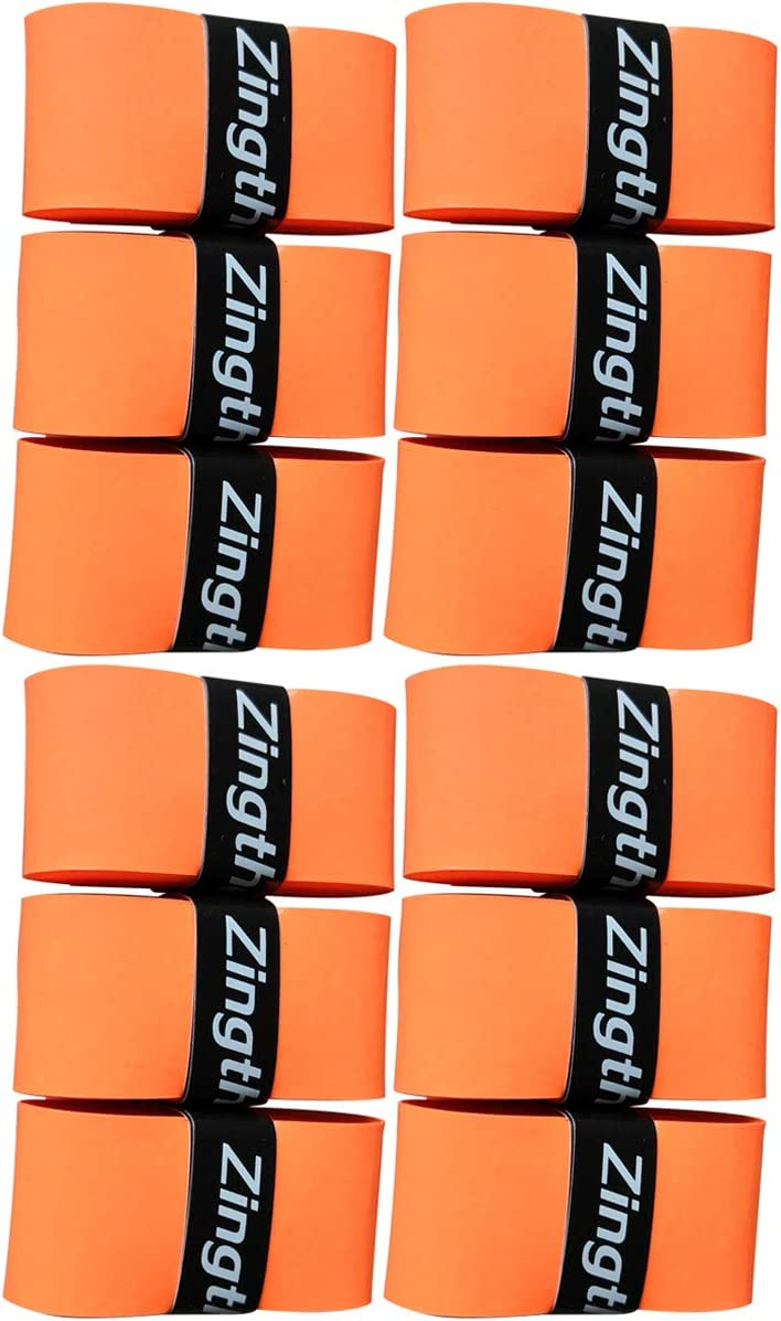 Zingther Premium Super Tacky Self-Adhesive Tennis Grip Overgrip Tape for Racket or Bat and Pickleball Paddle Handles - Top Grade Tackiness Feel