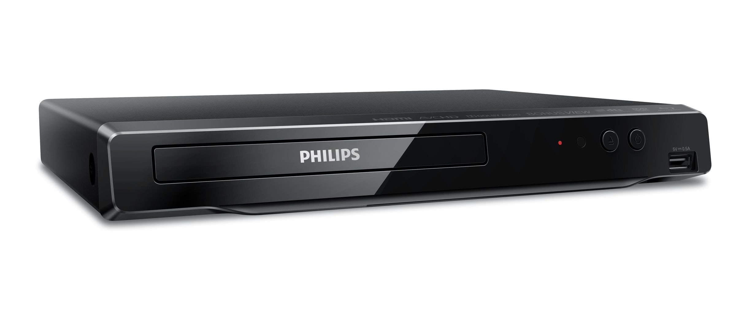 Philips 4K UHD Upconversion Blu-Ray DVD Player BDP3502/F7 (Does NOT Play 4K BLU-Rays / ONLY UPCONVERTS Regular BLU-Rays to 4K) (Renewed) by Philips