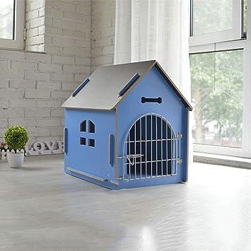 Lonshi Gato Mascota Perro casa de Madera Gato casa Perrera al Aire Libre Poncho extraíble y