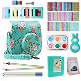 Blummy Instax Mini 9 Accessories Bundles for Fujifilm Instax Mini 8/Mini 8+/Mini 9 Instant Camera Including Camera Case/Book Album/Selfie Len/Wall Hanging Frames/Stickers/Strap/Pen (Flowers)