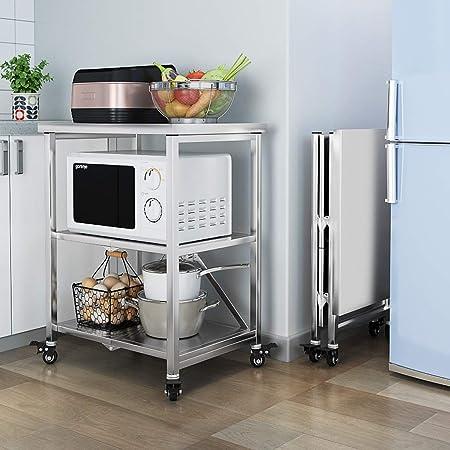 LLF Carrito de Almacenamiento Cocina, Racks De Microondas ...