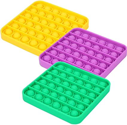 Stress Relief and Anti Anxiety Silicone Tools Stress and Anxiety Relief Hand Toys Squeeze Fidget Sensory Toy for Kids and Adults Bubble Sensory Fidget Toys Carrot