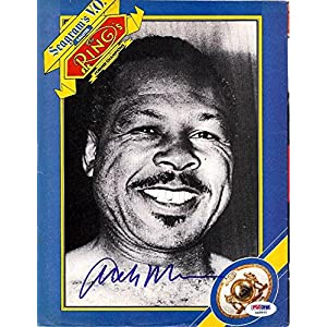 Archie Moore Authentic Autographed Signed Magazine Page Photo S48860 PSA/DNA Certified Autographed MLB Magazines