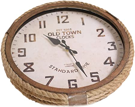Giftcraft Rope Wall Clock
