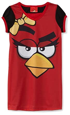 Angry Bird Little Girls'  I'm One Angry Bird Nightgown, Multi, 4