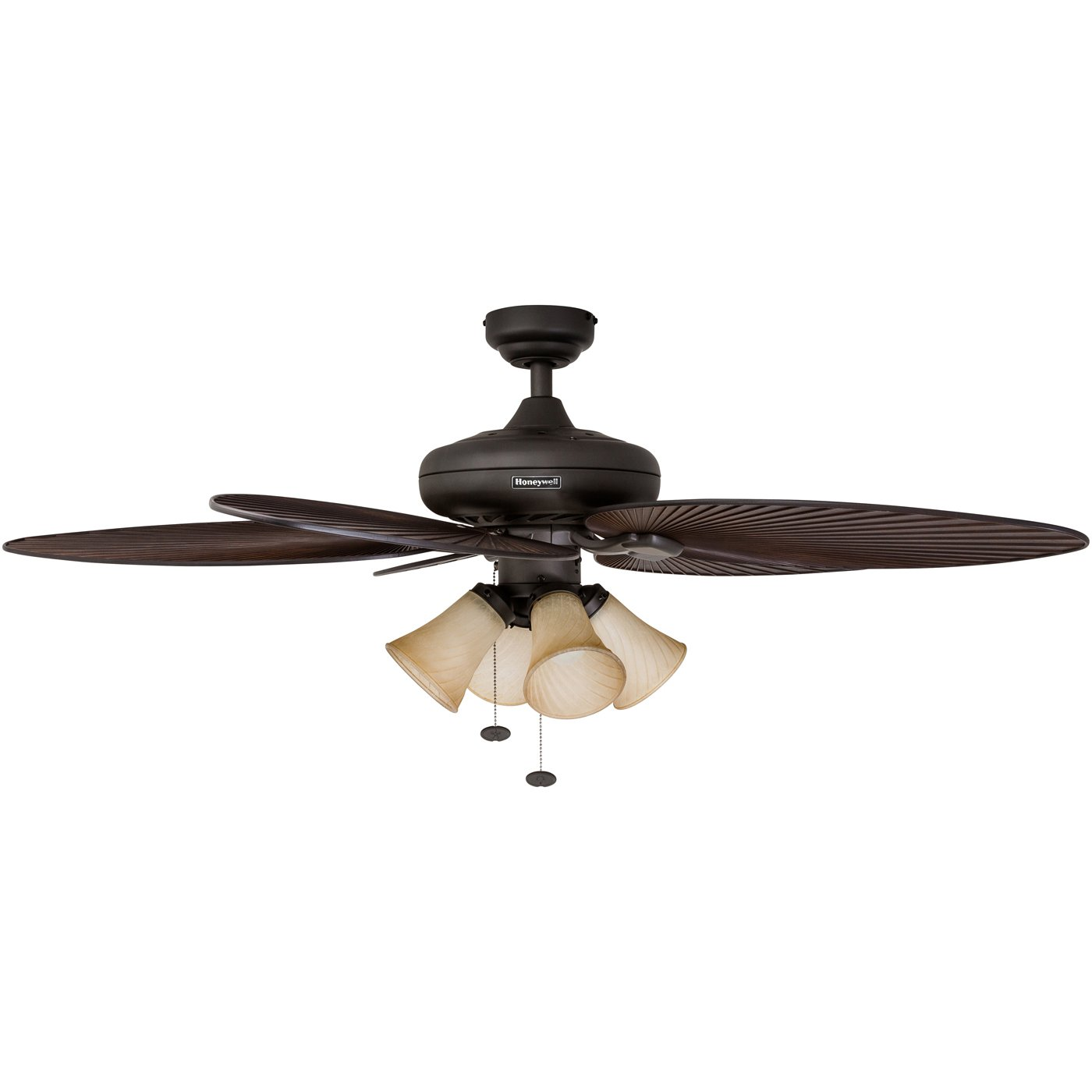 indoor tropical ceiling fans with lights honeywell palm island 52inch tropical ceiling fan with sunset shade lights five leaf blades indooroutdoor oilrubbed bronze 50203 u003c
