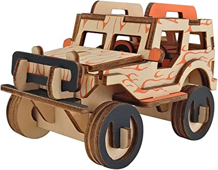 3D Wooden Puzzle Jigsaw Woodcraft Modelling Puzzle Toy Kit Gift DIY L