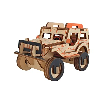 Amazon Com Dlong 3d Wooden Model Toy Kit Diy Assembly Construction