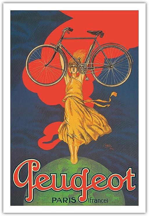 Pacifica Island Art - Bicicletas Peugeot - París, Francia - Póster ...