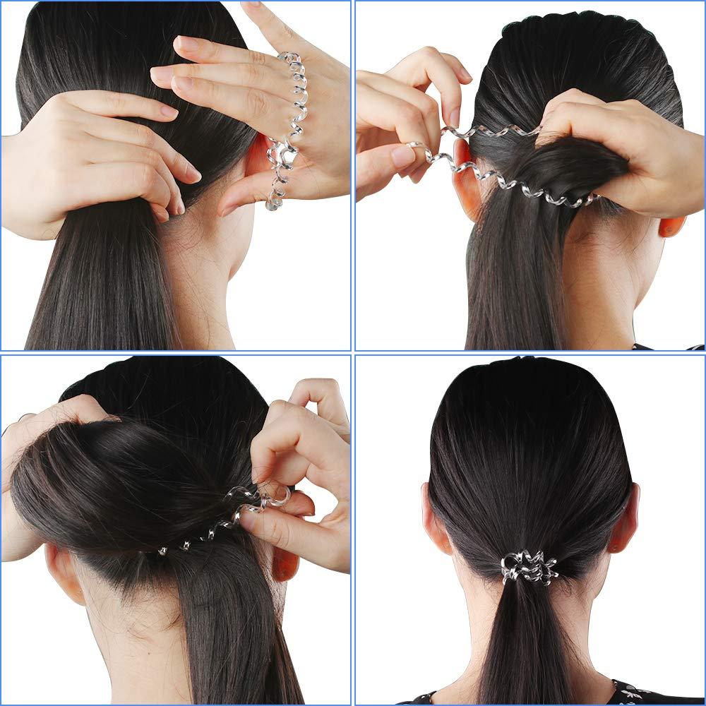 5X Mädchen Elastische Telefonkabel Haarband Seile Pferdeschwanz Haargummi