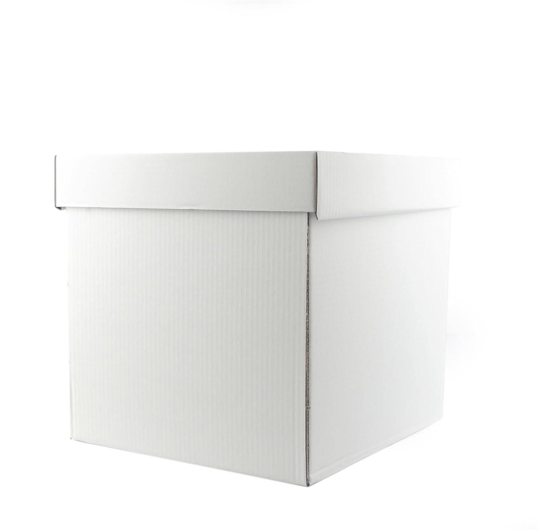 14 x 14 x 14 Inch Deep White Stacked Cake Box