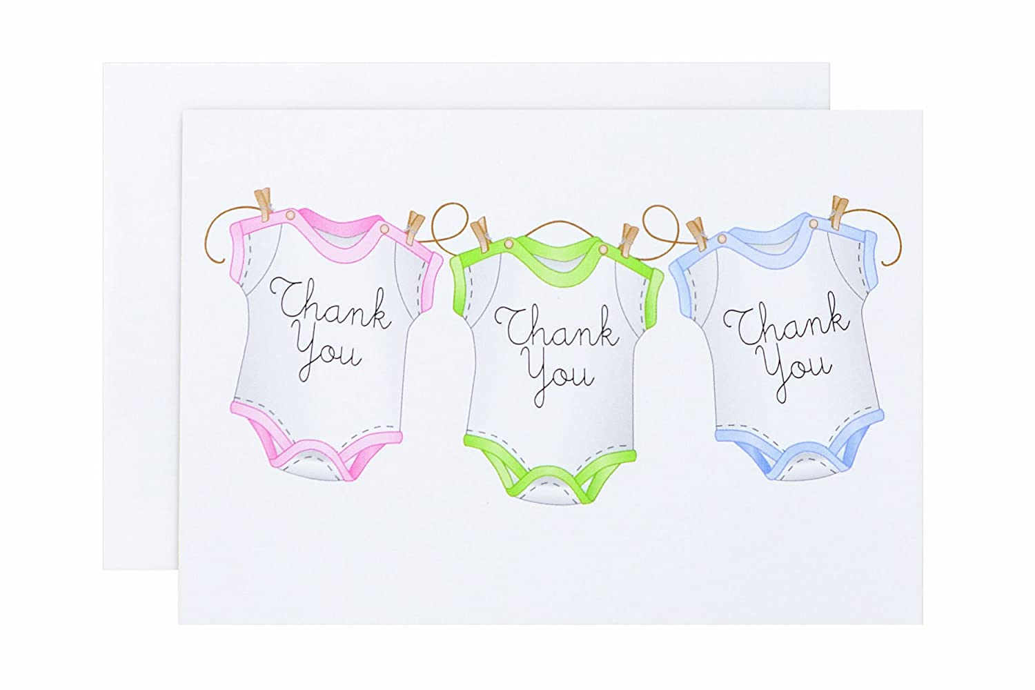 amazoncom wilton 20 pack onesie thank you wedding party invitations kitchen dining