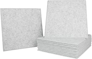 Dele 12pack Soundproofing Panels, 12 X 12 X 0.4 Inches Sound Proofing Absorption Padding High Density Bevled Edge Tiles Acoustic Foam Panels, Ideal For Home & Office Sound Insulation