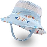 XIAOHAWANG Baby Sun Hat Toddler Beach Caps UPF 50+ Boys Girls Bucket Summer Play Hat